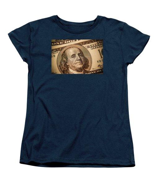 Women's T-Shirt (Standard Cut) featuring the photograph Benjamin Franklin by Les Cunliffe