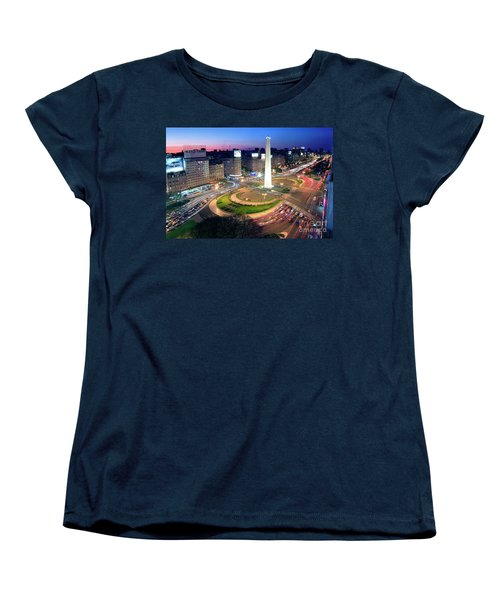 Women's T-Shirt (Standard Cut) featuring the photograph Buenos Aires Obelisk by Bernardo Galmarini