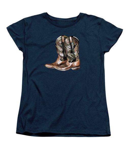 Cowboy Boots Women's T-Shirt (Standard Cut) by Pamela Walton