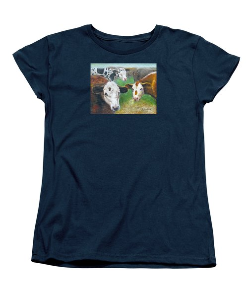 3 Cows Women's T-Shirt (Standard Cut) by Oz Freedgood