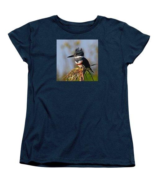 Female Belted Kingfisher Women's T-Shirt (Standard Cut)