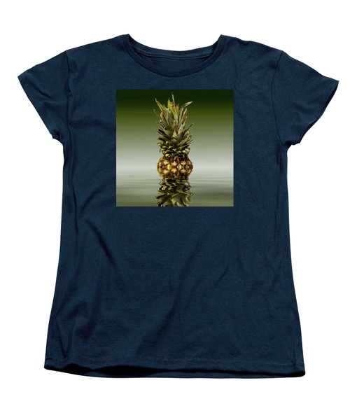 Women's T-Shirt (Standard Cut) featuring the photograph Fresh Ripe Pineapple Fruits by David French