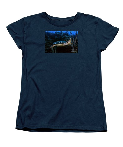 Hawksbill Turtle Women's T-Shirt (Standard Cut) by JT Lewis