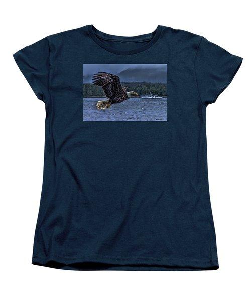 Women's T-Shirt (Standard Cut) featuring the digital art In Flight. by Timothy Latta