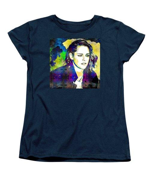 Kristen Stewart Women's T-Shirt (Standard Cut) by Svelby Art
