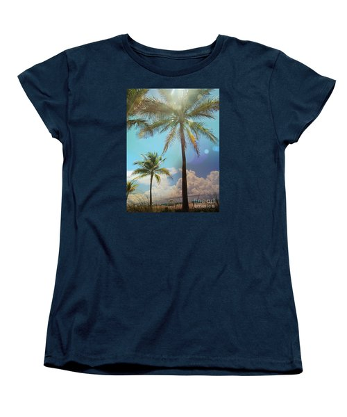 Miami Palm Trees,  Women's T-Shirt (Standard Cut) by France Laliberte