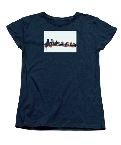 Moscow Russia Skyline Women's T-Shirt (Standard Cut) by Michael Tompsett