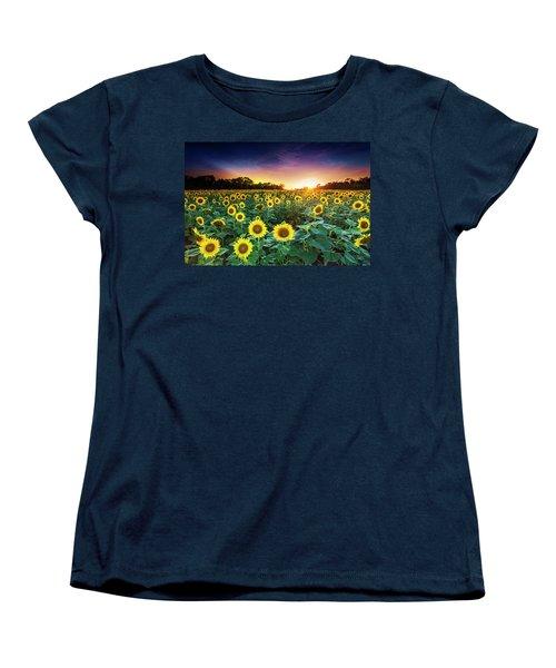 Women's T-Shirt (Standard Cut) featuring the photograph 3 Suns by Edward Kreis