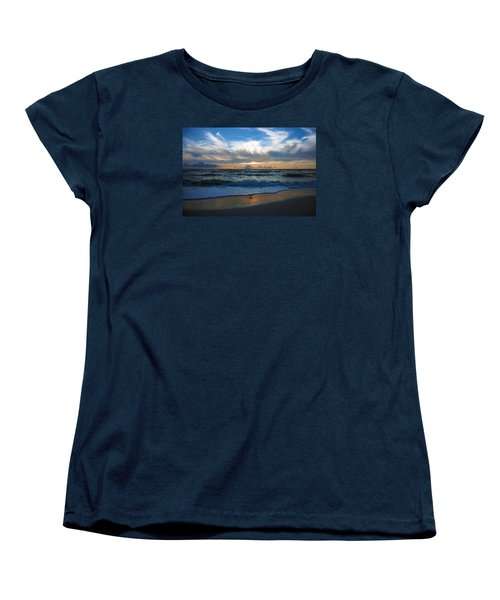 Women's T-Shirt (Standard Cut) featuring the photograph Sunset At Delnor-wiggins Pass State Park by Robb Stan