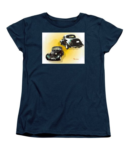 Women's T-Shirt (Standard Cut) featuring the photograph '38 Plymouth by Sadie Reneau