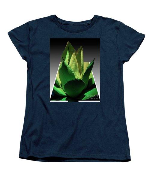 Women's T-Shirt (Standard Cut) featuring the photograph 3d Cactus by Darleen Stry