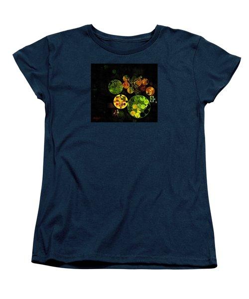Women's T-Shirt (Standard Cut) featuring the digital art Abstract Painting - Black by Vitaliy Gladkiy