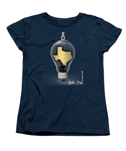 Dallas Texas Map Collection Women's T-Shirt (Standard Cut) by Marvin Blaine