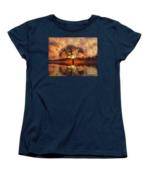 Women's T-Shirt (Standard Cut) featuring the digital art Lone Tree by Ian Mitchell