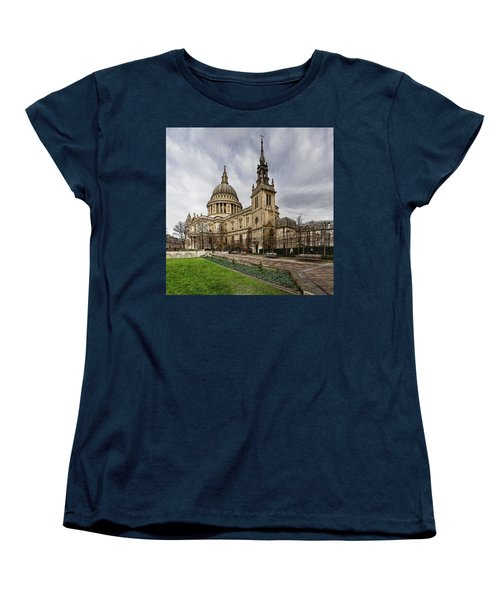 St Pauls Cathedral Women's T-Shirt (Standard Cut) by Shirley Mitchell