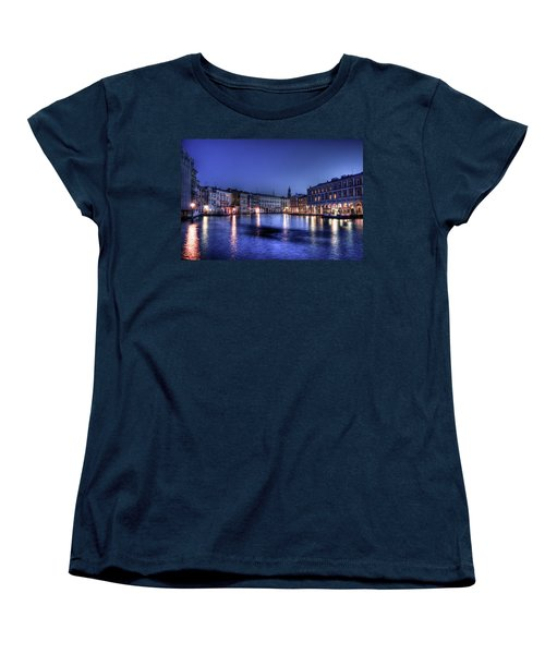 Women's T-Shirt (Standard Cut) featuring the photograph Venice By Night by Andrea Barbieri