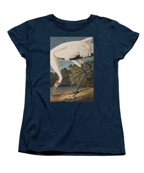 Whooping Crane Women's T-Shirt (Standard Cut) by John James Audubon