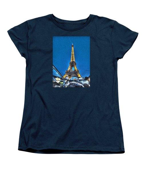 Women's T-Shirt (Standard Cut) featuring the pyrography Yury Bashkin Paris by Yury Bashkin
