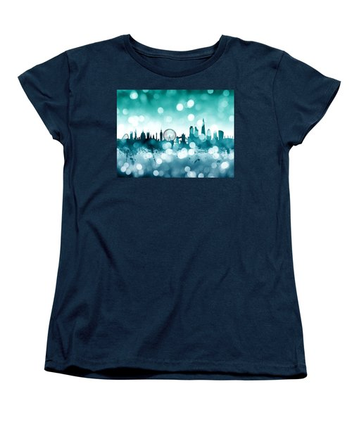 London England Skyline Women's T-Shirt (Standard Cut) by Michael Tompsett