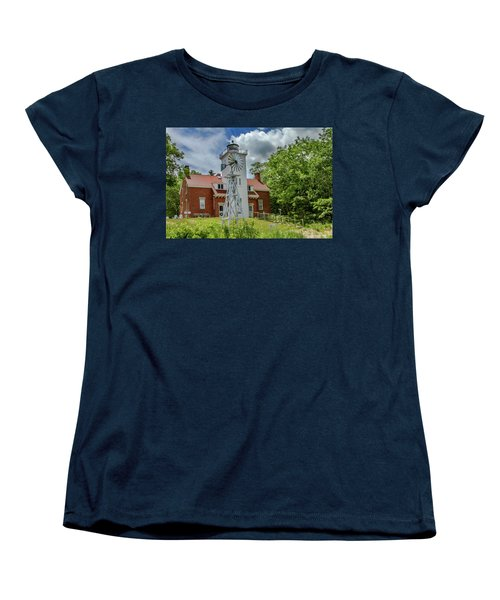Women's T-Shirt (Standard Cut) featuring the photograph 40 Mile Point Lighthouse by Bill Gallagher