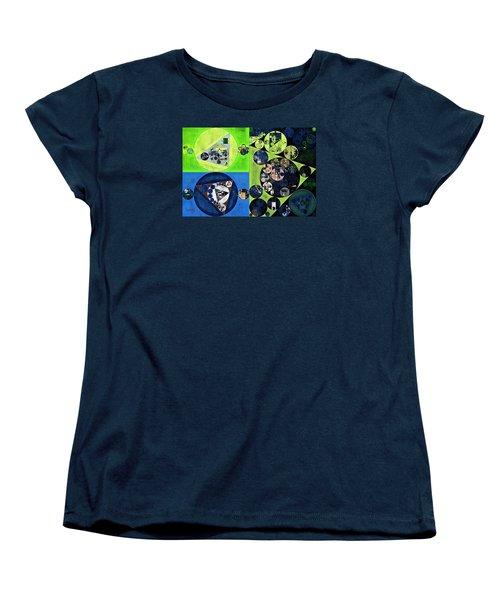 Women's T-Shirt (Standard Cut) featuring the digital art Abstract Painting - Dark Jungle Green by Vitaliy Gladkiy