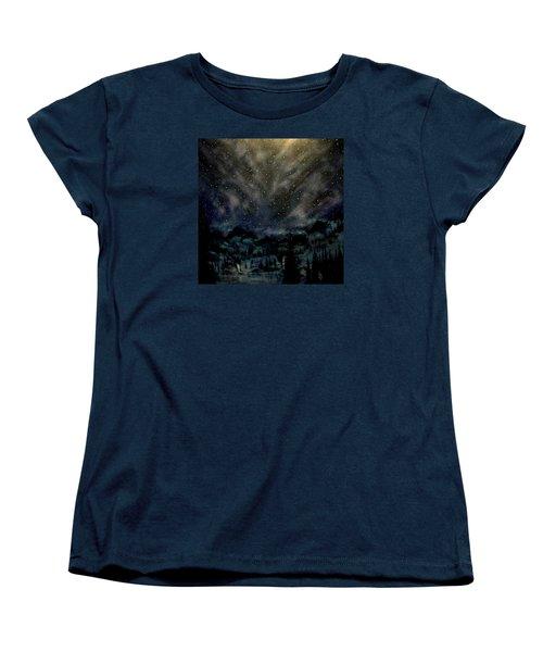 Cosmic Light Series Women's T-Shirt (Standard Cut) by Len Sodenkamp