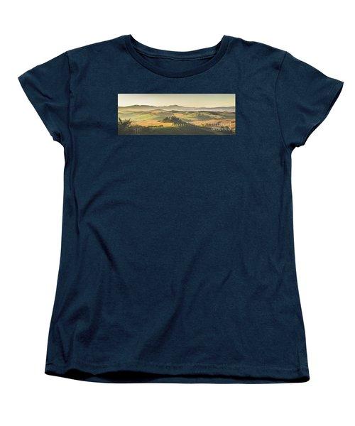 Golden Tuscany Women's T-Shirt (Standard Cut) by JR Photography