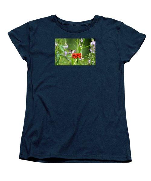 Humming Bird Women's T-Shirt (Standard Cut) by Lila Fisher-Wenzel