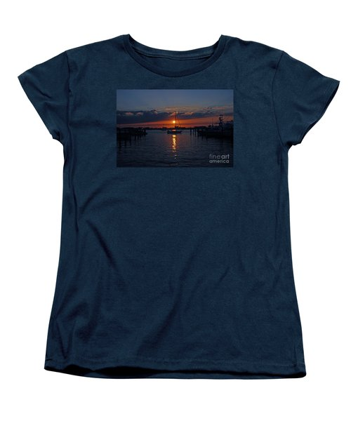 Women's T-Shirt (Standard Cut) featuring the photograph 5- Sailfish Marina Sunset In Paradise by Joseph Keane