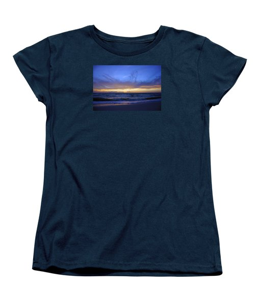 Sunset At Delnor Wiggins Pass State Park Women's T-Shirt (Standard Cut) by Robb Stan