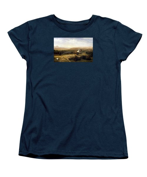 The Last Of The Buffalo  Women's T-Shirt (Standard Cut) by MotionAge Designs