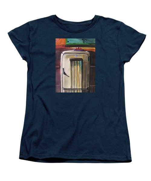 Women's T-Shirt (Standard Cut) featuring the painting 50's Update by John Williams