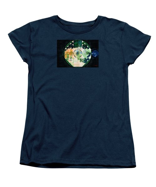 Women's T-Shirt (Standard Cut) featuring the digital art Abstract Painting - Onyx by Vitaliy Gladkiy