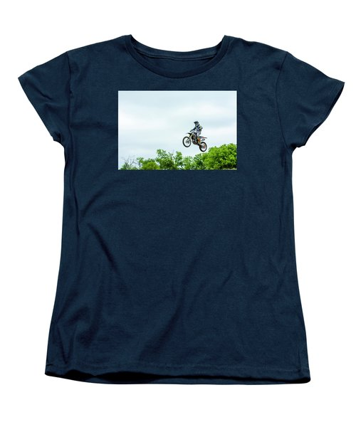 Women's T-Shirt (Standard Cut) featuring the photograph 573 Flying High At White Knuckle Ranch by David Morefield