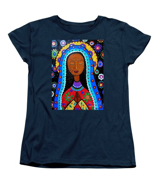 Our Lady Of Guadalupe Women's T-Shirt (Standard Cut) by Pristine Cartera Turkus