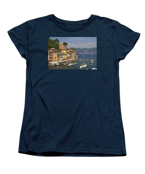 Portofino In The Italian Riviera In Liguria Italy Women's T-Shirt (Standard Cut) by David Smith
