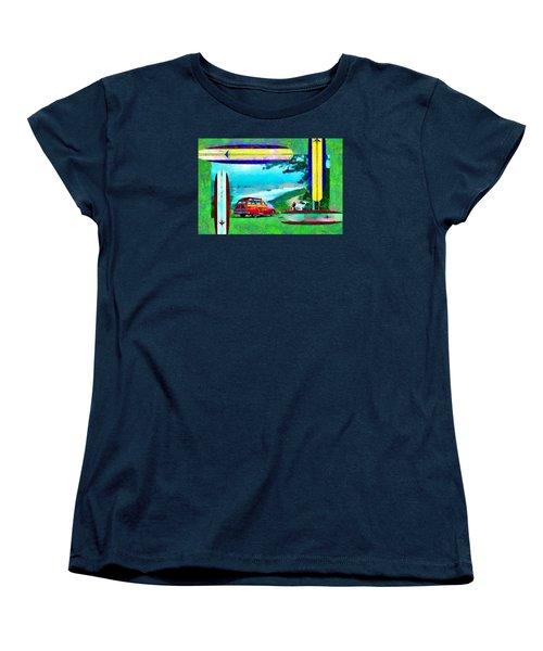 60's Surfing Women's T-Shirt (Standard Cut) by Caito Junqueira