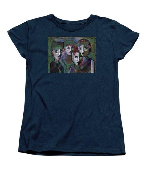 Women's T-Shirt (Standard Cut) featuring the digital art 649 - Gauntly Ladies by Irmgard Schoendorf Welch