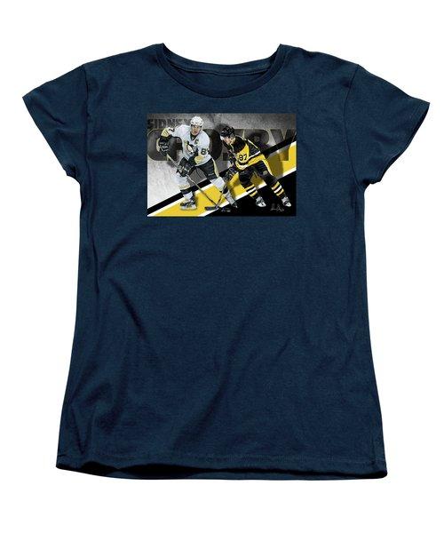 Sidney Crosby Women's T-Shirt (Standard Cut) by Don Olea