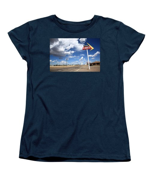 Route 66 Cafe Women's T-Shirt (Standard Cut) by Frank Romeo