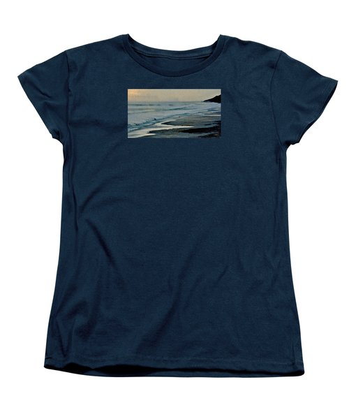 Stormy Morning At The Sea Women's T-Shirt (Standard Cut) by Werner Lehmann