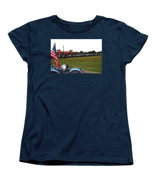 911 Ride Line Up Women's T-Shirt (Standard Cut) by Angela Murray