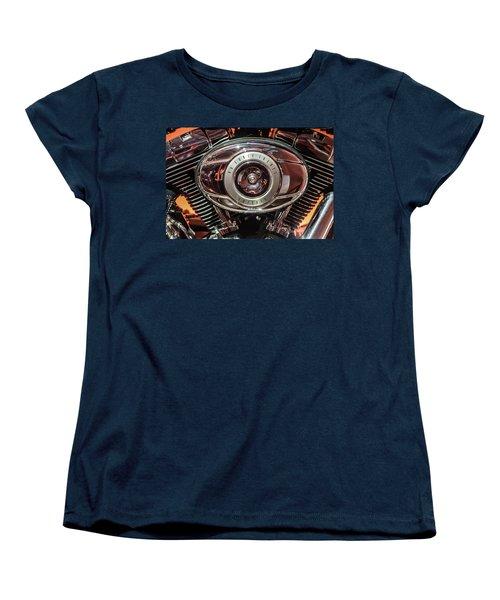 Women's T-Shirt (Standard Cut) featuring the photograph 96 Cubic Inches Softail by Randy Scherkenbach