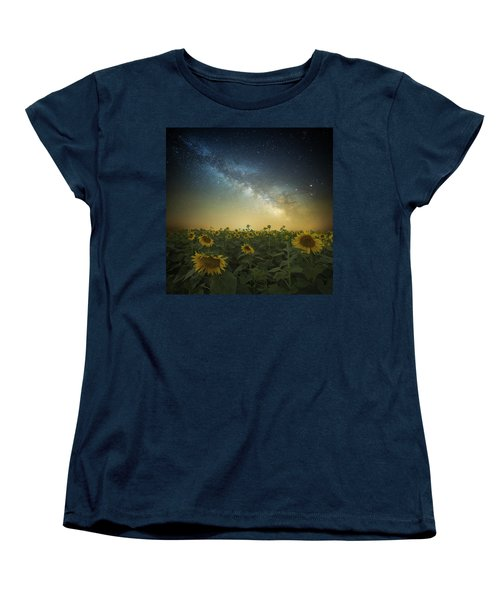 A Billion Suns Women's T-Shirt (Standard Cut) by Aaron J Groen