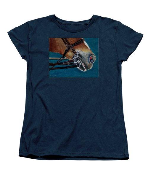 A Bit Of Control - Horse Bridle Painting Women's T-Shirt (Standard Cut) by Patricia Barmatz