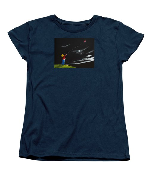 Women's T-Shirt (Standard Cut) featuring the painting A Braw Night For Flight by Scott Wilmot