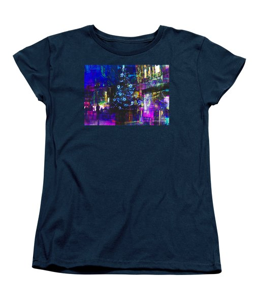 Women's T-Shirt (Standard Cut) featuring the photograph A Bright And Colourful Christmas by LemonArt Photography