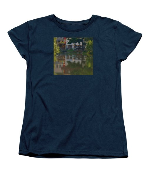 Women's T-Shirt (Standard Cut) featuring the photograph A Cities Reflection by Ramona Whiteaker