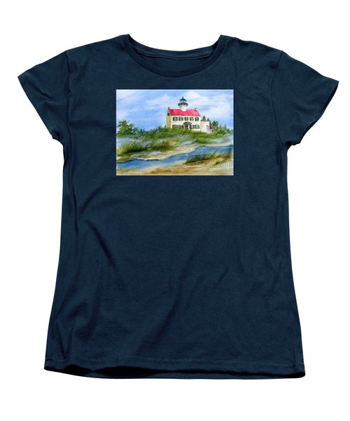 A Clear Day At East Point Lighthouse Women's T-Shirt (Standard Cut) by Nancy Patterson