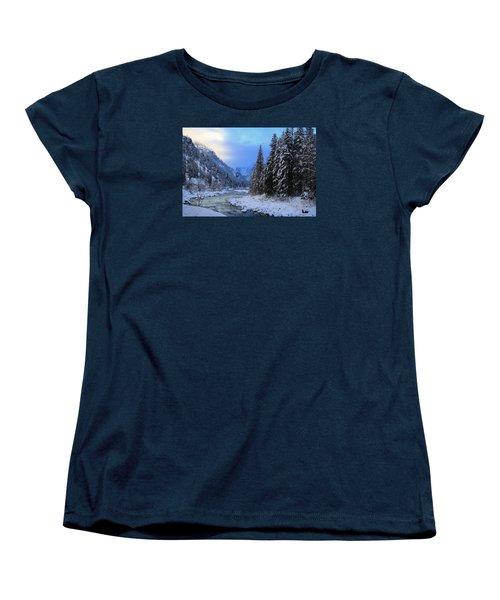 A Cold Winter Day Version 2 Women's T-Shirt (Standard Cut) by Lynn Hopwood